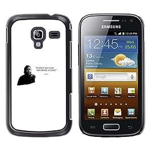 Caucho caso de Shell duro de la cubierta de accesorios de protección BY RAYDREAMMM - Samsung Galaxy Ace 2 - No hay cura por ser un coño Bronn