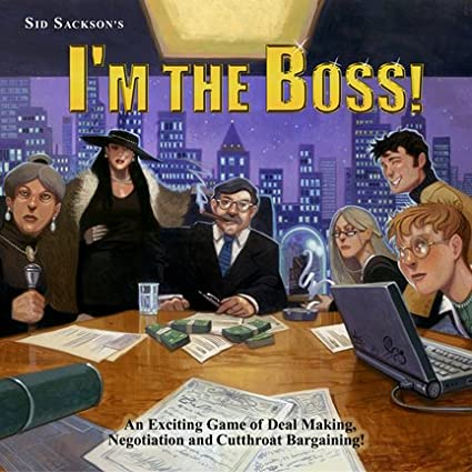 Face 2 Face Eagle-Gryphon Games IM The Boss Bargaining Board Game Face 2 Face Eagle-Gryphon Games I/'M The Boss Bargaining Board Game Flat River Group 101067