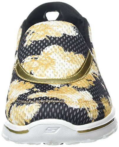 Skechers Damen Go Walk 3 Gold Rush Sneakers Schwarz (BNGD)