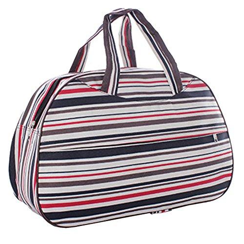 Tasche - TOOGOO(R)Fashion Waterproof Oxford Damentaschen bunten Streifen Reisetasche Grosse Hand Leinwand Gepaecktaschen