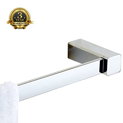 bathroom single towel bar stainless steel bath dcor shelf hotel style invisible wall mount rack hand