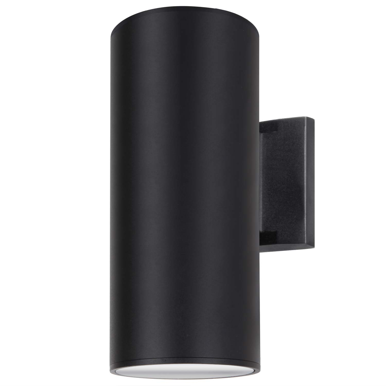 Outdoor Wall Light, ZUUKOLE Exterior Lighting - ETL Listed, Die-Casting Aluminum Waterproof Wall Mount Cylinder Design - Up Down Light Fixture for Porch, Backyard and Patio (Black)