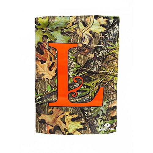 Mossy Oak Camouflage Garden Flag with Orange L Monogram (Camouflage Garden)