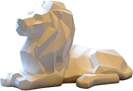 bianco Besot-Resina astratta palloncino cane scultura artigianato casa tavolo decorazione geometria resina animali animali animali animali