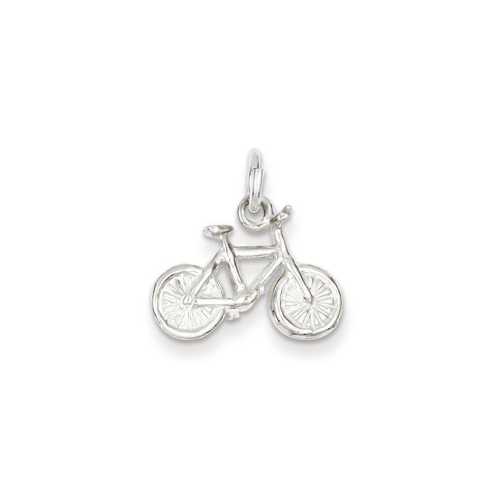 18 LavaFashion Sterling Silver Bicycle Charm Necklace