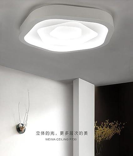 FGSGZ Ceiling Light Bedroom Modern Led Living Room Lamp Pentagons ...