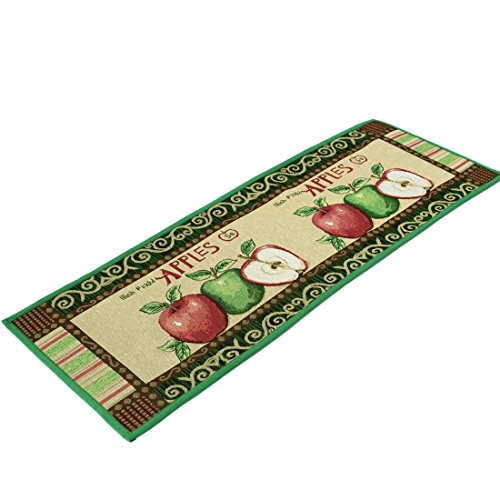 Kitchen Rugs Apple Non Slip Kitchen Mat Extra Long Runner Area Rug for Kitchen Jacquard Bathroom Carpet Printed Floor Rugs,18 x 47 Inches by Amian Shop (Image #2)'