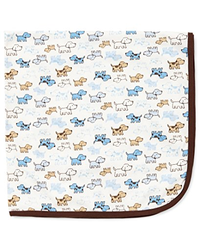 Little Me Baby Boys' Cute Puppies Blanket, White Print, One Size by Little Me