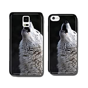 Howling White Wolf cell phone cover case Samsung S6