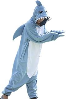 wotogold Hombre 1 traje de verano de animales Tiburón pijamas de Cosplay