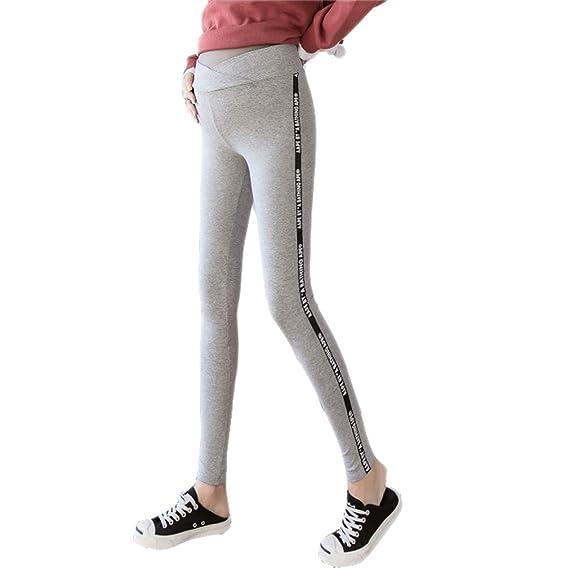 Gaga city Leggins Embarazada Mujer Cintura Baja Pantalones Premama Skinny Maternidad Leggings Opacos Elasticos Algodon/M: Amazon.es: Ropa y accesorios