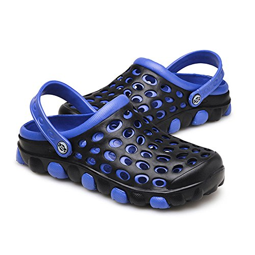 - Cyiecw Unisex Breathable Garden Clogs Outdoor Walking Slippers Anti-Slip Beach Shower Sandals (11.5 US Women / 9.5 US Men, Blue)