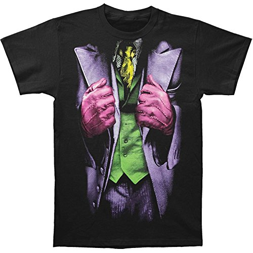 Batman Dark Knight Joker Mens Costume Tee (X-Large) (Woman Joker Costume)