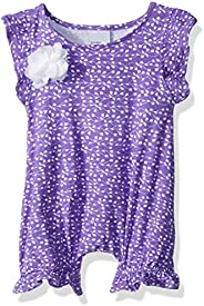 Flap Happy Baby-Girls Seraphina Fluter Sleeve Romper with Snap Crotch Cover Up