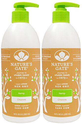 Natures-Gate-Hemp-Moisturizing-Lotion-for-DryDehydrated-Skin-18-Ounce-Pumps-Pack-of-2