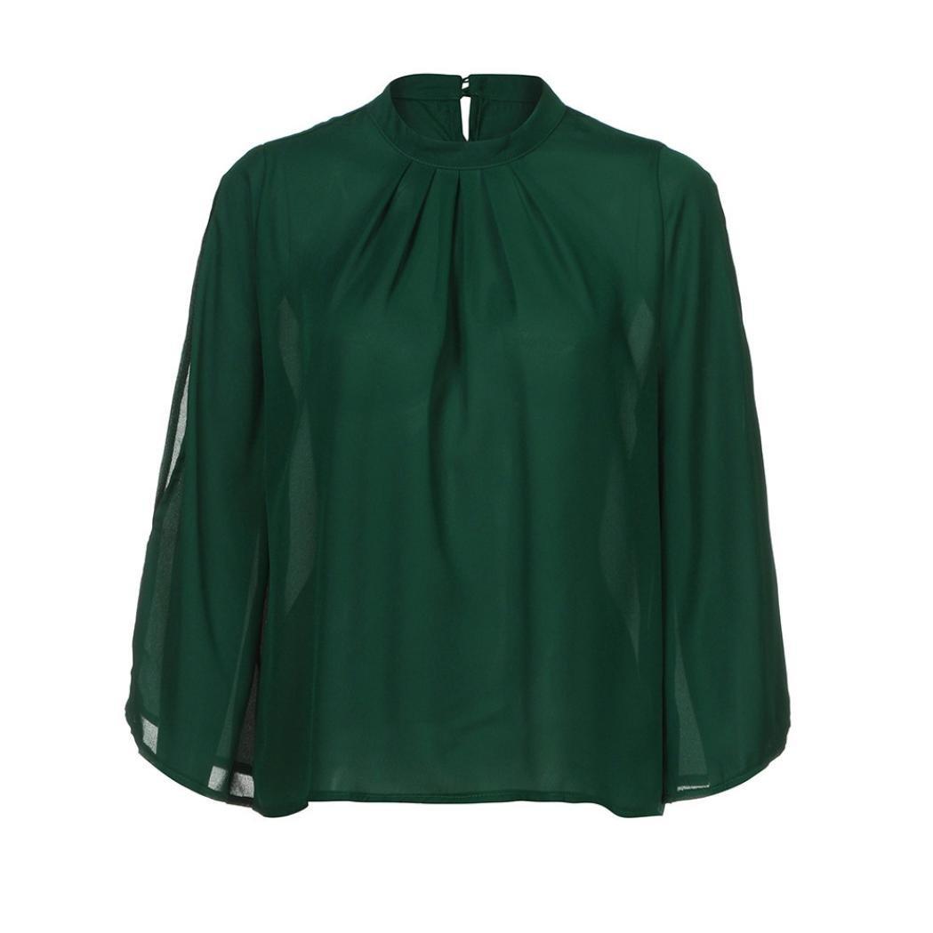 ... Blusas Para Mujer, Tops Mujer Verano, Blusas Para Mujer Elegantes, Blusa de Manga Larga Tops Floja de Moda Para Mujer: Amazon.es: Ropa y accesorios