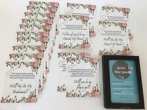 Set of 16 Will You be My Bridesmaid,