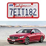 LivTee Red Silicone License Plate