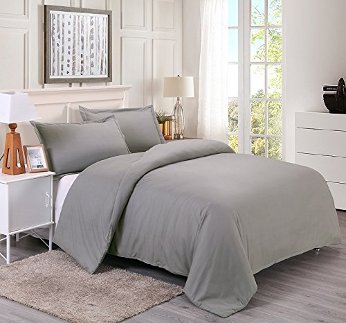 queen duvet cover grey - 1