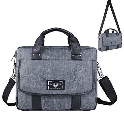 16 ~ 17.3 inch Laptop Bag, Twill Vegan Shoulder Messenger Bag For Laptop, Tablets, 2in1 Convertibles, Ultrabooks, Notebook, Chromebooks & Netbook Computers by Vangoddy