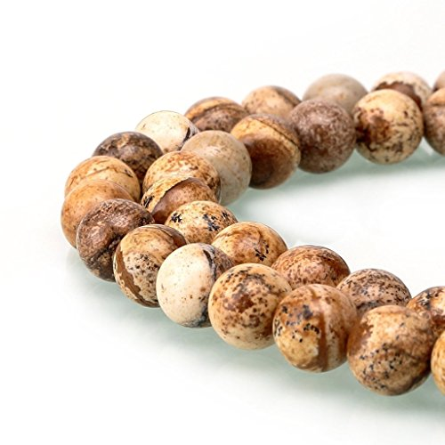 AAA Natural Picture Jasper Gemstone 4mm Loose Round Beads Spacer Beads 15.5