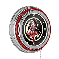 Miller High Life Girl in the Moon Chrome Double Ring Neon Clock, 14