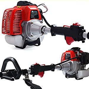 Gas Pole Saw,Maxtra 42.7CC 2-Cycle 8.2FT to 11.4 FT Extendable Cordless Gas Chainsaw,Powerful Long Reach Tree Trimmer Pruning Chain Saw