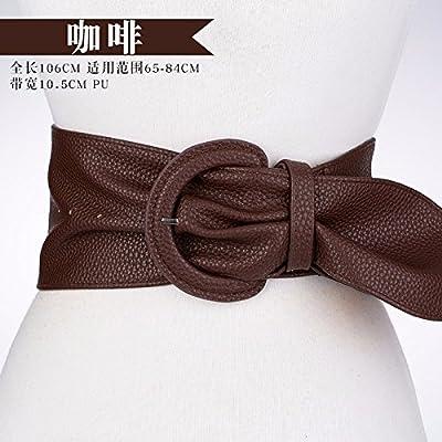 YANGFEI-PD Au printemps de 2018 et le nouveau code pin élastique femme robes cosmétique, brown 3 largeur de courroie
