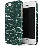 BURGA iPhone 5 / 5s / SE Case, Jade Stone Green Marble Thin Design Durable Hard Shell Plastic Protective Case For Apple iPhone 5 / 5s / SE