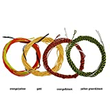 Aventik 4pcs 12ft Tenkara Fly Fishing Line Tapered Braided Floating Fishing Line 4 Different Colors with backing line