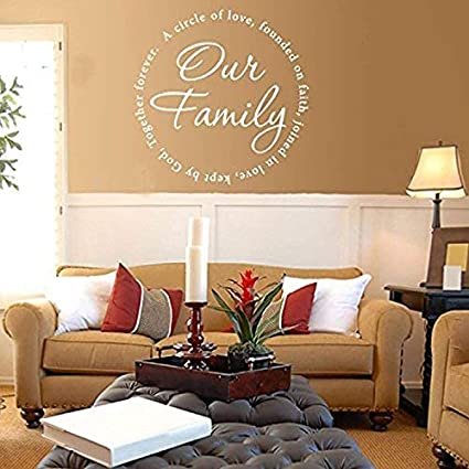 Yetta Quiller Vinyl Vinyl Sticker Wall Art Our Family Wall Decal-Circle of Love Wall