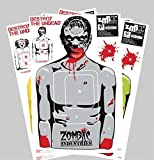 zombie bb targets - Zombie Paper Targets - 25 Pack - Full-Size 18