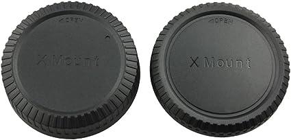 JJC L-R14 Body Cap and Rear Lens Cap for FUJIFILM X Mount Camera Body and FJ X Mount Lens