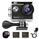 Dragon Touch 4K EIS Action Camera 16MP Vision 4 Support External Mic Underwater