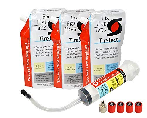 TireJect Off-Road Flat Tire Protection Kit with Sealant Injector (60oz Large ATV/SxS Kit) by TireJect (Image #5)