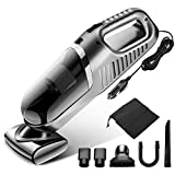 Gugusure GSR-New Silver Grey 4000pa Corded High Power, Lightweight Handheld Vacuum Cleaner for Car Interior Cleaning with 14.7Ft Cable, 120W DC 12V: more info