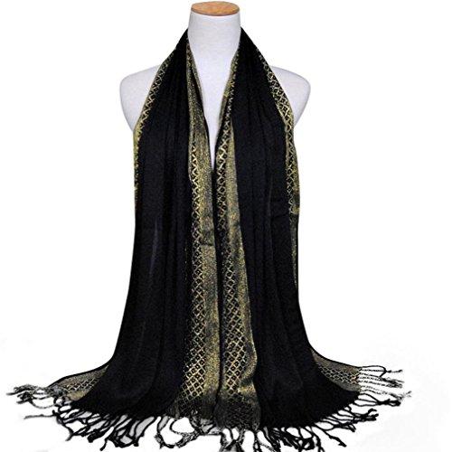 lim Long Cotton Shawl Scarf Tassel Scarves Stole Wrap ()