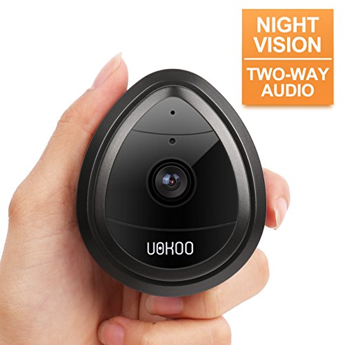 UOKOO Wireless Security Camera, 720p HD Home WiFi Wireless Security Surveillance IP Camera with Motion Detection, Night Vision/Two Way Audio Black
