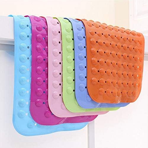 Non-Slip Bathmat Bathroom Shower Pad PVC Pebble Suction Cup Bathtub Mat anyilon