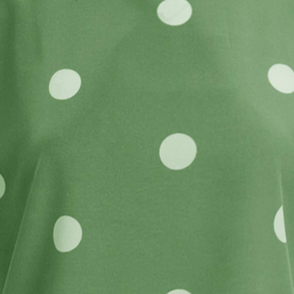 Camiseta Mujer Manga Corta Basica Moda Blusa Sin Mangas Impresa Sin Mangas Ocasional del Lunar