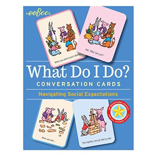 Eeboo What Do I Do Social Awareness Conversation Flashcards
