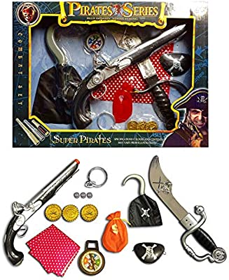 Pirate Sword And Eyepatch Set Adults Child Pirates Fancy Dress Accessory