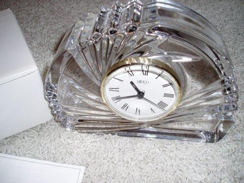 UPC 020911587216, Mikasa Crystal Spiral Crescent Clock