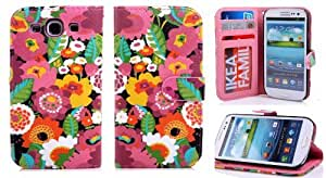Samsung S3 Case, Samsung Galaxy s3 case, Samsung Galaxy s3 leather case,Gotida S30530A001 Colorful PU Leather Wallet Type Magnet Design Flip Case Cover for Samsung Galaxy S3 i9300, I747, L710, T999,i535 - AT&T, T Mobile, Sprint, Verizon, Samsung s3 cases