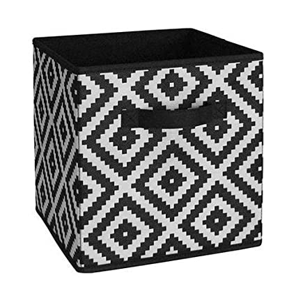 Dorel White Diamond Fabric Storage Bin Organizer for System Build Units Black  sc 1 st  Amazon.com & Amazon.com: Dorel White Diamond Fabric Storage Bin Organizer for ...