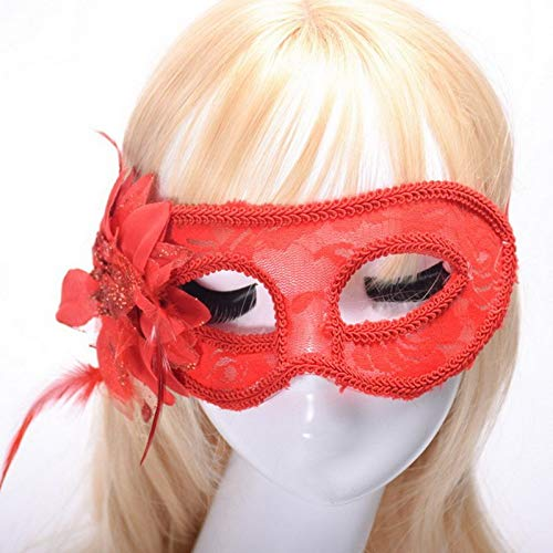 (Party Eye Mask - Halloween Masquerade Ball Venetian Party Eye Mask Feather Lace Carnival Fancy Dress Costumes - For)