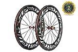 88mm carbon wheels - Superteam 88mm Carbon Wheelset 700c Clincher Bicycle Wheel with 291 Super-Light Hub