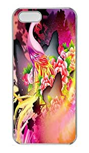 IMARTCASE iPhone 5S Case, Colorful Phoenix PC Hard Case Cover for Apple iPhone 5S Transparent