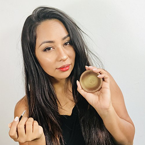 Moroccan Clay Pot Lip and Cheek Stain – Totally - Organic with designer Brush applicator. Includes Handmade Artisan Key chain Bag. (Silver Keychain Bag) by Zone - 365 (Image #4)