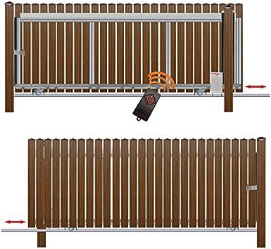 Bauer – Puerta corredera montar H=80, B=330, con accionamiento de S, Marrón: Amazon.es: Bricolaje y herramientas
